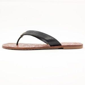 7974f92ccd3a Tory Burch Shoes - Tory Burch Black   Gold Thora Thong Sandals